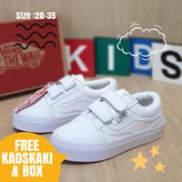 Sepatu anak sekolah putih vans laki laki perempuan murah