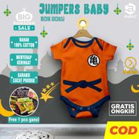 Jumpsuit bayi baby newborn laki laki perempuan jumper karakter GOKU