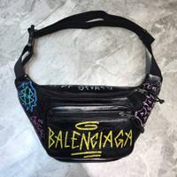 Balenciaga Graffiti Bumbag Waistbag in Signature Black