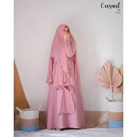 Gamis Syari Set Casual TRZ Clover (Dress + Khimar)