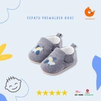 Sepatu Prewalker Bayi Laki-Laki Bahan Lembut Velcro Sol Karet Full