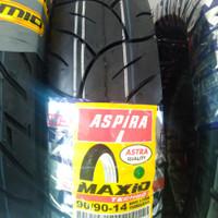 ban motor matic ASPIRA MAXIO TECHNO 90/90-14 TUBELESS made by Pirelli
