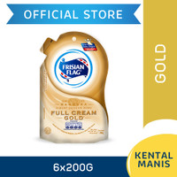 Frisian Flag Bendera Kental Manis Full Cream Gold Pouch 200g [6 pcs]