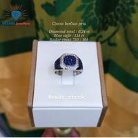 cincin pria diamond berlian eropa emas asli 18k