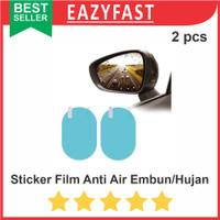 x2 Sticker Film Anti Hujan Embun Fog Kaca Spion Mobil Motor Helm Talas