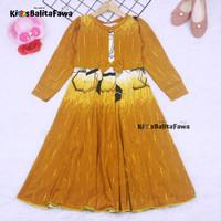Gamis Pita Uk. 4-5 th // Baju Muslim Anak Murah / Dress Lengan Panjang