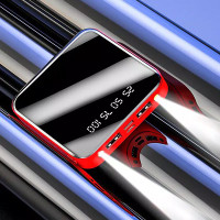 PowerBank 10000mAh Baterai Hp Universal Power bank Digital 2USB Port G - Merah, 10000 mah