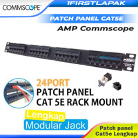 Patch Panel 24 Port Cat 5e AMP Commscope Cat5e Rack Server