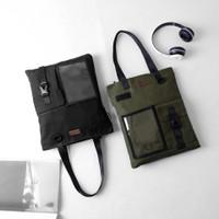 Pamole - Tas Tote Bag Bahan Kanvas Lapis Furing - Unisex - Arel Series