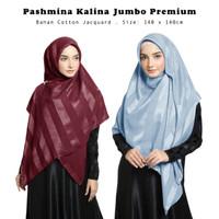 Kerudung Kalina Square Part II Hijab Segiempat Syari Jumbo Premium