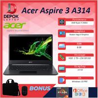 Acer Aspire 3 A314 Ryzen 5 3500 8GB 1TB+256ssd Vega8 W10PRE 14.0HD