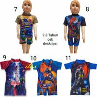 Baju Renang anak Cowok 2-4 tahun Karakter New