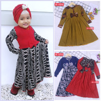 Gamis Pita Uk. 2-3 Tahun / Baju Muslim Gamis Anak Perempuan Murah Adem