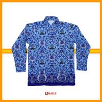Baju Batik Korpri PNS Pria Berlapis Furing Bahan Katun