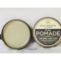 Hair Wax Fix Profesional Clay Pomade Bench Barbers 80g Original
