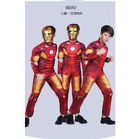 Kostum Superhero Anak Baju IRON MAN IRONMAN + Topeng (1 set)