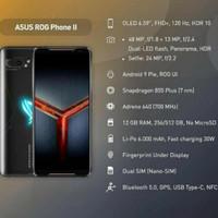 ASUS ROG PHONE 2 8GB/128GB GARANSI RESMI TAM,SECOND LIKE NEW