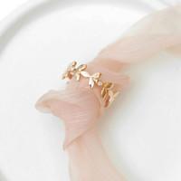 Cincin Wanita Emas Asli Berlian Rose Gold 18K Natural Diamond Ring IR