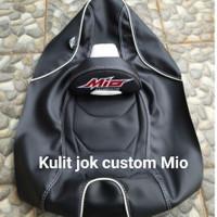 kulit jok motor Mio j Mio soul bahan MBtech / aksesoris motor mio