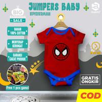 Baju bayi laki 6 12 bulan baru lahir baby newborn karakter SPIDERMAN