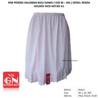 Rok Pendek Dalaman Androk Baju Gamis Wanita Katun Yutind-GN art.RD A1