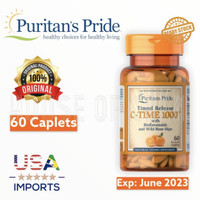 PURITAN PRIDE Vitamin C 1000 Mg Timed Release with Rosehips 60 Caplets