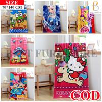 Best Handuk Mandi Anak Perempuan Cantik uk75x150 - Multicolor