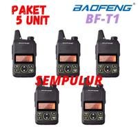 PAKET 5 HT Baofeng T1 BF-T1 Mini Handy Talky Walkie Talkie Single Band