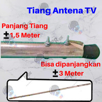 Tiang Anten Antena Antenna TV Digital Luar Outdoor Galvanis Anti Karat
