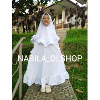 Baju Muslim Anak  Gamis Anak Perempuan  Gamis Putih Anak Perempuan