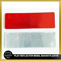 Plat Reflektor Bahan Plastik Kuat Mobil / Truk Stiker Reflektor