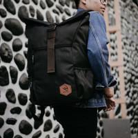 THEO BLACK  MNM x ARCIO  Backpack Tas Ransel Pria FREE RAINCOVER - ORI