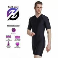 baju renang diving dewasa jumbo black original pria wanita
