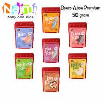 Bonco Abon Premium 50 gr MPASI Bayi Rasa Sapi Salmon Nila Dori Tuna