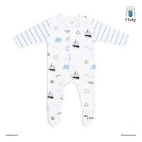 Obaby Sleepsuit (0-12bulan) - Jolly Whale [100% Katun]