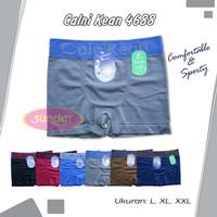 Isi 3 Celana Dalam Boxer Pria Calnikean L XL XXL Rajut Tanpa Jahitan