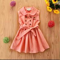 Baju Anak Perempuan Dress Xaveraa Untuk Umur 2 - 6 Tahun - Salem, S