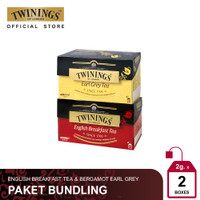 [Paket Bundle] Twinings Teh Celup Hitam Earl Grey & English Breakfast