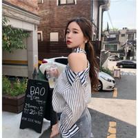 Blouse Atasan Wanita Long Sleeve Sabrina Baju Off Shoulder Impor YH967