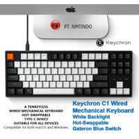 Keychron C1 Wired Hot Swappable White Backlight Gateron Blue Switch