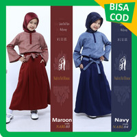 Baju Gamis Anak Perempuan Usia umur 5 6 7 8 9 10 11 12 Tahun (NABL04)