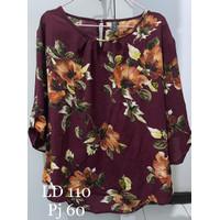 Baju Atasan Wanita Motif Bunga