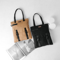 Pamole - Tas Tote Bag Bahan Kanvas Penutup Resleting - Yarra Series