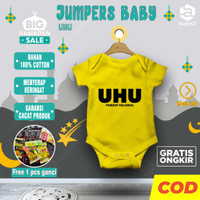 Setelan baju bayi baru lahir hampers jumper jumpsuit baby karakter UHU