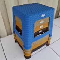 Bangku kursi jongkok mini anyam clio sahara - kursi bakso mini anyam