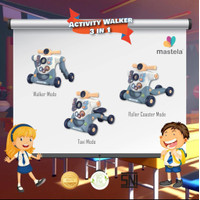 MASTELA Baby Walker - Activity / Push Walker, Play and Learn 3in1 Mode