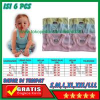 GBB 6 Pcs Pakaian Baju Kaos Dalam Anak Bayi Laki Dan Perempuan Lusinan