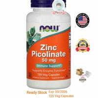 Now Foods Zinc Picolinate 50 mg 120 Veg Capsules