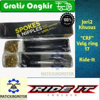 jari jari ruji KLX Dtracker Ride It khusus modif velg 17 9x185/190/190 - CRF