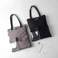 Pamole - Tas Tote Bag Bahan Kanvas Lapis Furing - Carry Series